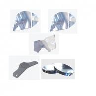 62x52mm Schweißglas DIN 5 grün für ovale Kunststoffbrille # 2 Ersatzgläser